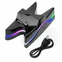 Uzaktan Kumanda LED Şarj için PS4 Çift Dock İstasyonu USB Hızlı Standı Şarj