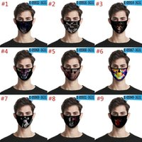 Multi- design Skull Face Mask Ice Silk Fabric Printing Protec...