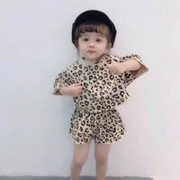 New arrived leopard Girls Outfits 2019 Summer short sleeve T...