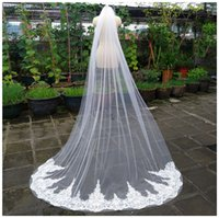 Cathedral Bridal beaded Lace Long Veil with Comb 3 M(108...