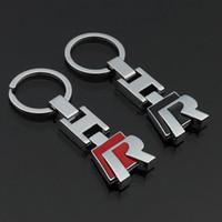 3D 금속 키 체인 자동차 R 로고 키 체인 폭스 바겐 폭스 바겐 폴로 골프 Passat CC R32 R36 열쇠 고리에 적합