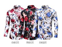 Crossborder 2019 New Large Size Mens Printed Long Sleeve Shi...