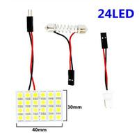 12 15 24 SMD 5050 LED 자동차 패널 라이트 읽기 돔 전구 자동차 인테리어 지붕지도 램프 T10 W5W C5W C10W 꽃줄이 어댑터 자료