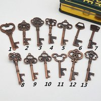 Открывалки Key Форма бутылки цепь открывалка стали бронзовый ключ открывалка для бутылок Античный ретро открывалка EEA1619