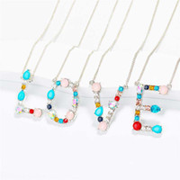 Fashion Silver Gold Color Statement Chain Multicolor Gemston...