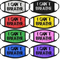 I Cant Breathe maschera nera Abita Matter panno di fronte maschera antipolvere e traspirante di copertura della maschera di protezione 8 stili LJJK2165