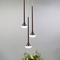 36 heads modern led pendant lights coffee color aluminum Acr...