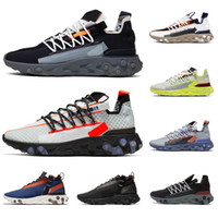New REACT WR ISPA MID LW men women running shoes ghost aqua Gunsmoke platinum volt Anthracite breathable mens trainer sports sneakers