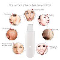 Depurador ultrasónico de la piel Máquina de limpieza profunda de la cara Quitar la suciedad Punto negro Reducir arrugas y manchas Blanqueamiento facial