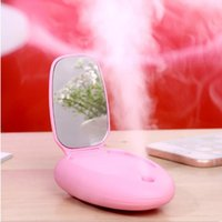 Portable Cool Facial Steamer with Makeup Mirrors Mini Nano M...
