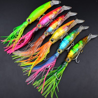 Hot! 6 Color 14cm 40g Fishing Lures Baits Squid Lures 3D eye...