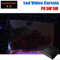 Haute Qualité P9 5 M * 5 M LED vidéo LED Rideau mode PC Contrôleur Fireproof Vision Rideau LED Toiles de fond pour mariage Backdrops