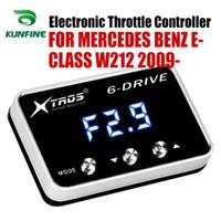 MERCEDES Benz e sınıfı W212 2009 2010 2011 Tuning Parça Aksesuar için Araç Elektronik kısma Kontrolörü Yarışı Hızlandırıcı Güçlü Booster