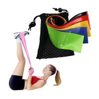 100% banda de resistência látex natural Elastic faixa da resistência Bodybuilding de ginástica em casa por 5 Pieces aptidão faixas da resistência Yoga