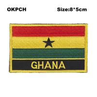 Freies Verschiffen 8 * 5cm Ghana Form Mexiko Markierungsfahnen-Stickerei-Eisen auf Flecken PT0084-R