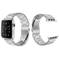 Comumente usado Apple Watch Aço Inoxidável Banda de Metal Strap Series 6/5/4/3/2/1 SE Desporto Unisex Silver and Black RoseGold