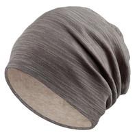 Kadınlar için kış Şapka Kasketleri Pamuk Karışımlı Kalça Hop Kapaklar Slouch Sıcak Şapka Festivali Unisex Türban Kap Düz Renk Bonnet Şapka K03
