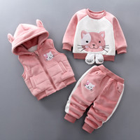 good quality Boys Winter Clothing Sets Thicken Christmas Ves...