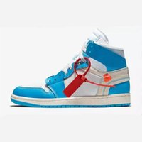 New 1s Boots Shoes Mens White Powder Blue High Top Sneakers ...