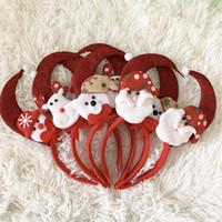 Weihnachtshaar-Band Red Elk Snowflake Bären-Karikatur-Band-Stirnband-Festival Dekorieren Kopfbedeckung 2 1hq UU