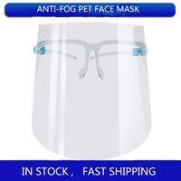 DHL de protection masque facial transparent Anti Fluide Visage Bouclier anti-poussière / anti-buée Splash bouche visage clair Masque de protection