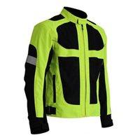 الرجال دراجة نارية سباق جاكيتات الذكور دراجة نارية سباق الملابس واقية قطرة مقاومة الصيف تنفس ملابس عاكسة szie m-4xl