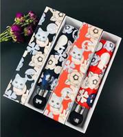 New Emoj Art und Weise Katzemuster Regenschirm klassische Frauen-Automatik Luxuxweinlese-Logo-Regenschirm für Regen oder sunshie Geschenk Box