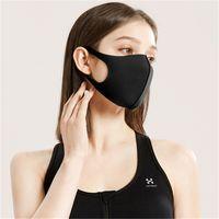 Siyah Anti Toz Yüz Yeniden kullanılabilir Yüz Ağız Kapak PM2.5 Respiratörü toz geçirmez anti-bakteriyel Yıkanabilir Yeniden kullanılabilir Sünger Maskeler Maske HH9-2984