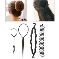 New Arrival 4pcs set Magic Hair Braiding Twist Curler Set Ha...