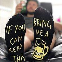 Если Вы можете прочитать это принеси мне пиво противоскользящим Письмо Эластичный Мягкие носки calcetines