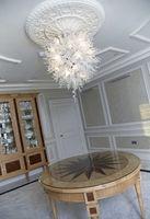 Certificado UL envío del estilo de Chihuly Lámparas CE ahorro de energía Murano Art Glass Crystal Salón decorativo techo blanco Cadena