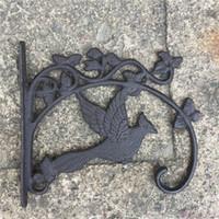 2 قطعة الحديد الزهر يطير الطائر الحائط القوس ساحة حديقة ديكورات المنزل ريترو معدن هوك شماعات لتعليق أدوات اناء للزهور قفص العصافير