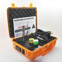 kit de unhas E Quartz Banger dab elétrica prego dabber portátil equipamento Titanium Nails aquecedor elétrico Box Aquecimento 20 milímetros bobina Temperatura Controlador
