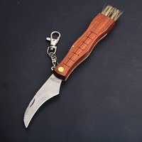 Neuer Ankunfts-Gemüse Obsternte Messer Holzgriff im Freien kampierende Jagd Taschenmesser 440C Satin-Blatt mit Pilz-Sweep Pinsel