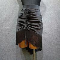 Servicio de baile latino para adultos Vestido nuevo de baile Falda latina Vestido de falda de práctica Mujeres