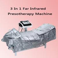 3 In 1 Infrarosso lontano EMS Electric Stimolazione muscolare Massaggio pressione d'aria Pressoterapia Linfodrenaggio