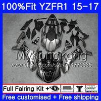 사출 성형기 YAMAHA YZF R1 1000 YZF-R1 15 16 17 243HM.0 YZF-1000 YZF R 1 YZF1000 YZFR1 2015 2016 2017 페어링 키트 광택 실버 블랙