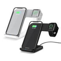 Caricabatterie wireless 2 in 1 ricarica veloce per Apple Watch 2 3 Caricabatterie wireless Qi per iPhone X 8 Plus per Samsung S9
