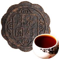 Promosyon 100g Yunnan İyi Çiçek Yuvarlak Ay Mooncake Şekli Olgun Puer Çay Kek Organik Doğal Siyah Pu'er Çay Eski Ağacı Puer Çay Pişmiş