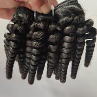 Fabbrica vergine brasiliana all'ingrosso dei capelli trama dei capelli ricci sexy afro breve 8-12inch remy indiani dei capelli umani 3 pacchi in magazzino