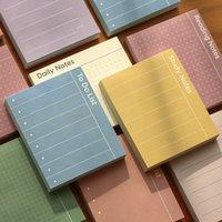 80 folhas / pacote Para Do List Plano de bloco de notas Memo Pad Material Escolar Paper Stationary Office Decoração Acessórios