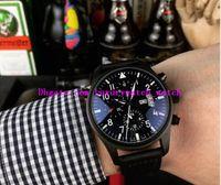 새로운 버전 4 스타일 럭셔리 시계 41mm 파일럿 크로노 그래프 탑 총 378901 가죽 스트랩 쿼츠 망 패션 남자 시계