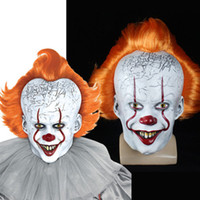 Máscara Pennywise Joker Stephen King Ele Chapter Two 2 Horror Clown Cosplay Latex Capacete assustador do partido do Dia das Bruxas do Prop 2019
