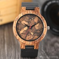 Creative Burned Paper Style Simple Wood Watches Men' s B...
