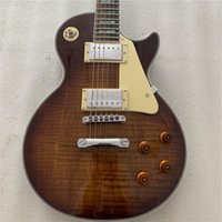 High quality hand- made electric guitar, tobacco burst flame ...