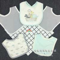 HudsonBaby mejor calidad mercancías en la acción 5 Papel vestido del bebé de la saliva de tela de algodón 100 Alimentación baberos
