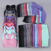 Vital sin fisuras de los deportes de 3 Pieses Trajes de Yoga para Mujeres de la gimnasia Conjunto de 2 piezas de ropa Sportwear entrenamiento kits de la aptitud Legging Bra top