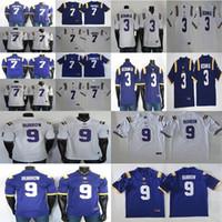 LSU Tigres Jerseys NCAA 9 Joe Burrow 7 Leonard Fournette 7 Tyrann Mathieu 3 Odell Beckham Jr College Football Jersey Branco Azul