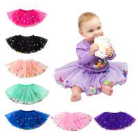 Neugeborenes Tutu Röcke Mode Netzgarns Regenbogen Pompon-Kleid-Babys 5-Schicht-Netz Rock Halloween-Kostüm Kinder schnüren sich Rock C1565