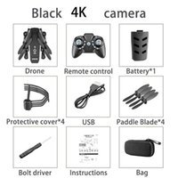 KK8 4K HD WIFI FPV faltbare Mini-Drohne Spielzeug, nehmen Foto von Geste, Trajektorie Flug, Schönheit Filter, Altitude Hold, 360 ° Flip Quadcopter, 3-3